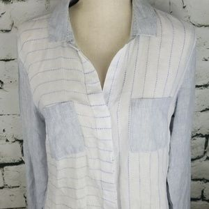 Saks Fifth Avenue Linen Top Medium